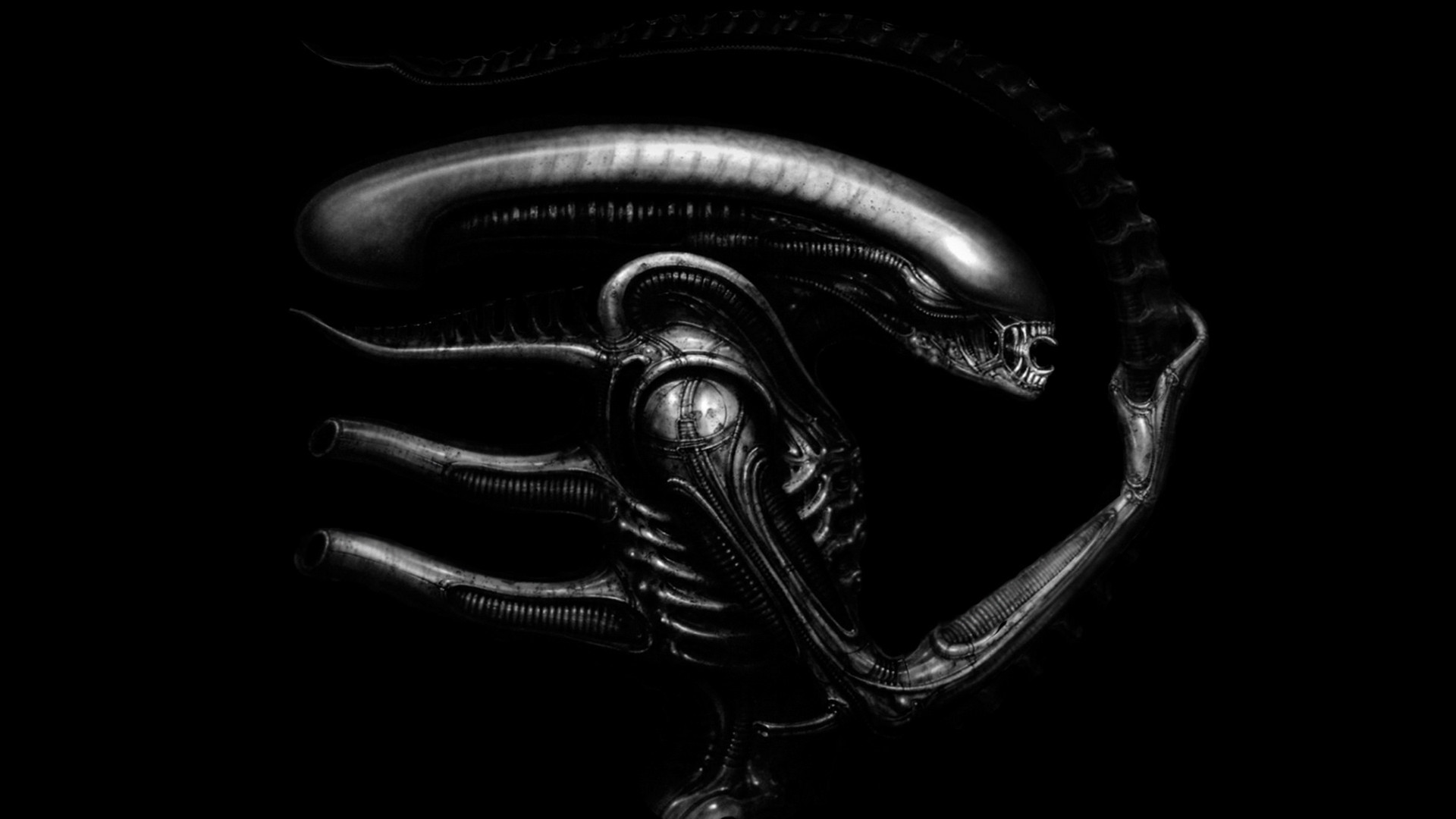 Alien (1979) concept art by H.R. Giger