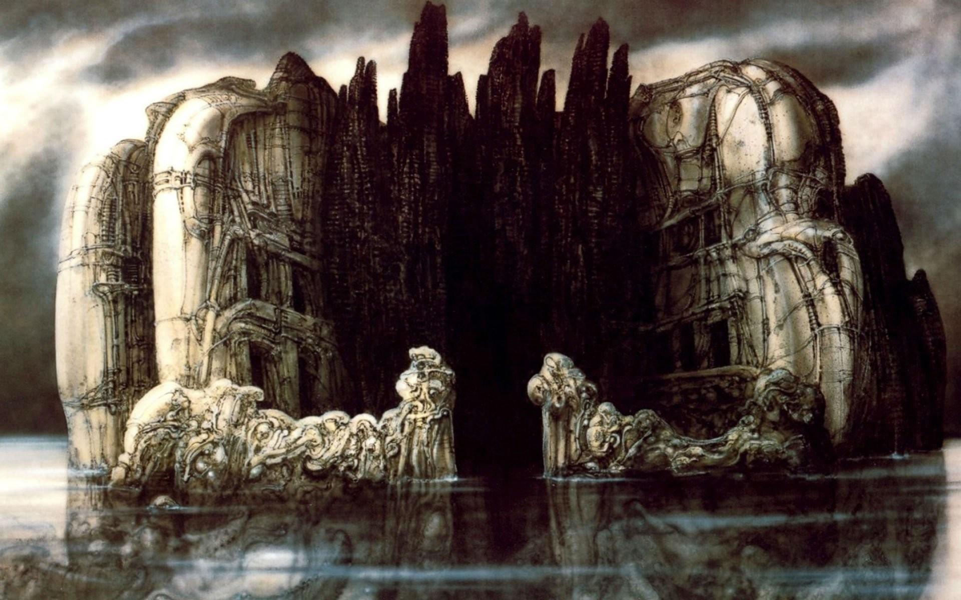 H R Giger Art Artwork Dark Evil Artistic Horror Fantasy Sci-fi Wallpaper At  Dark Wallpapers