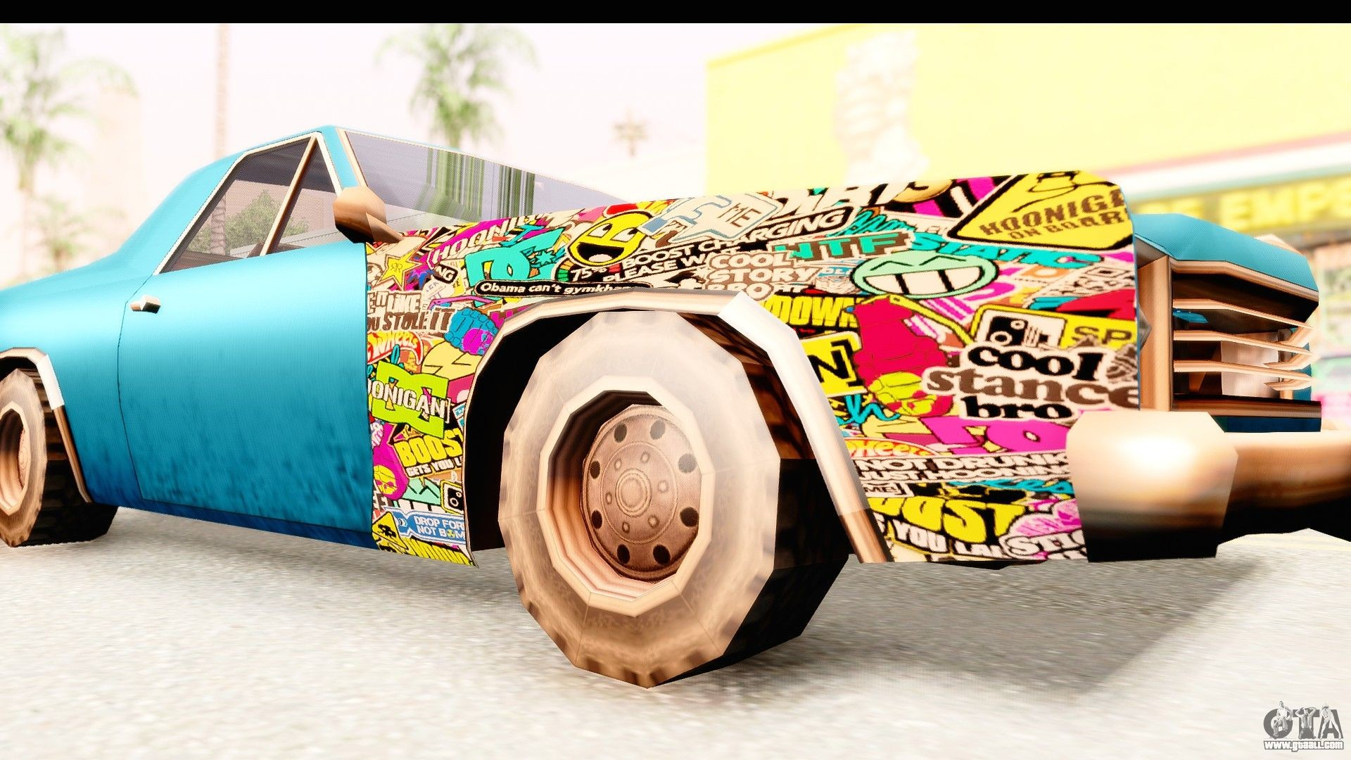 Picador Sticker Bomb for GTA San Andreas back view .