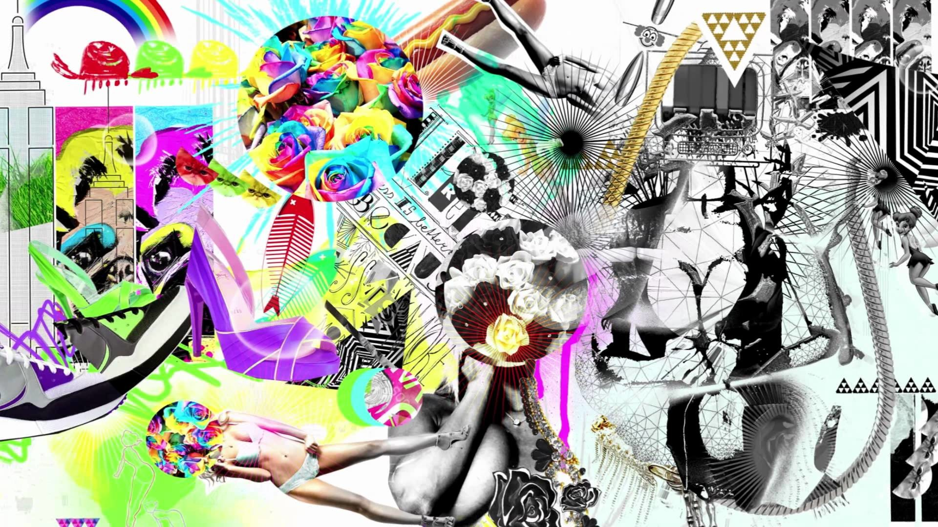 Photoshop: Color Crash Collage