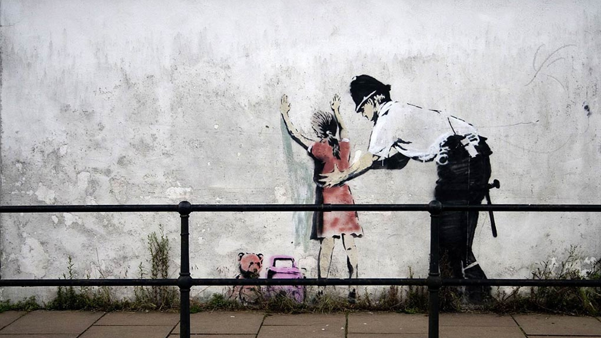 Download Free Banksy Art Bakcground.