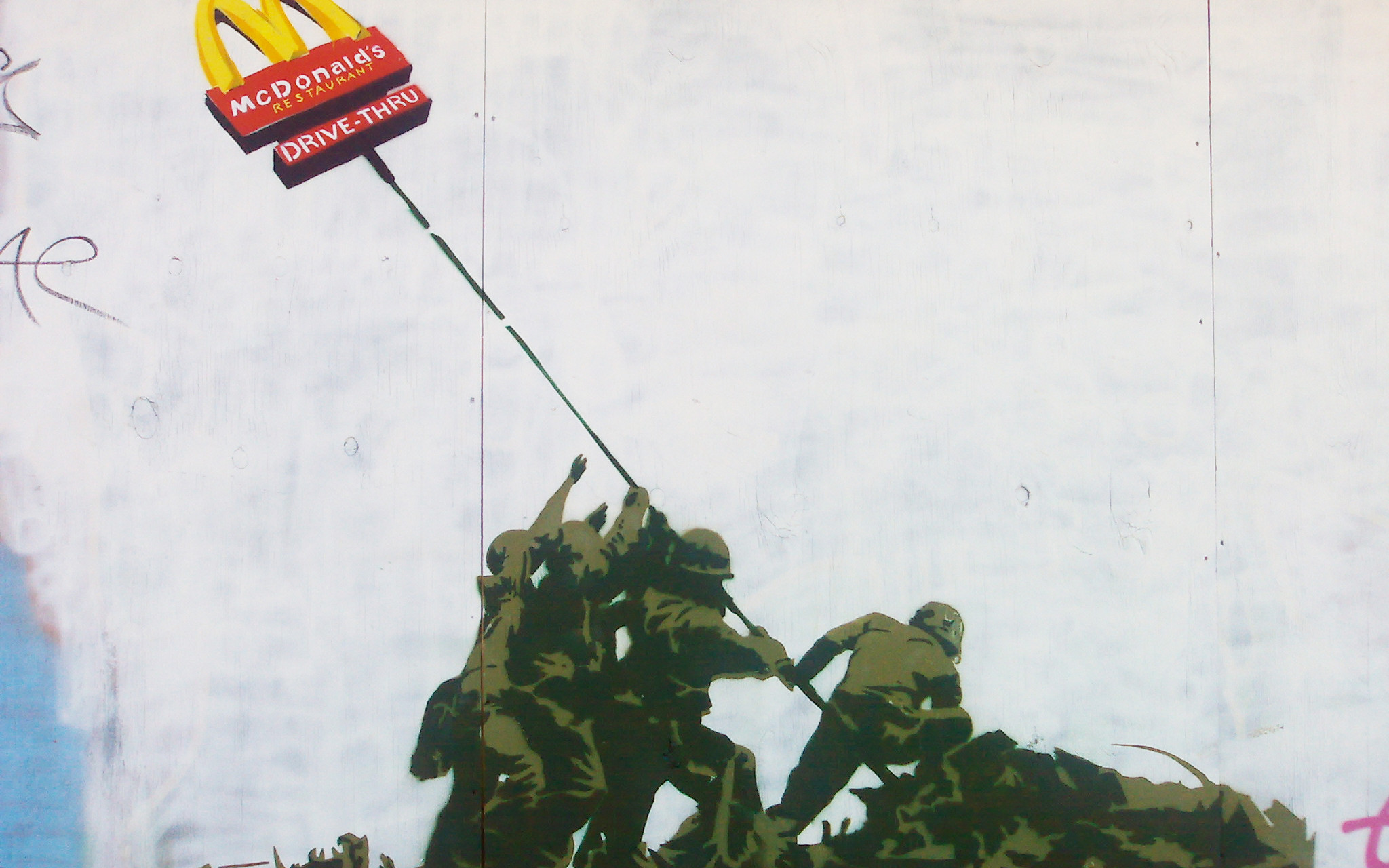 Banksy McDonalds Iwo Jima Wallpaper