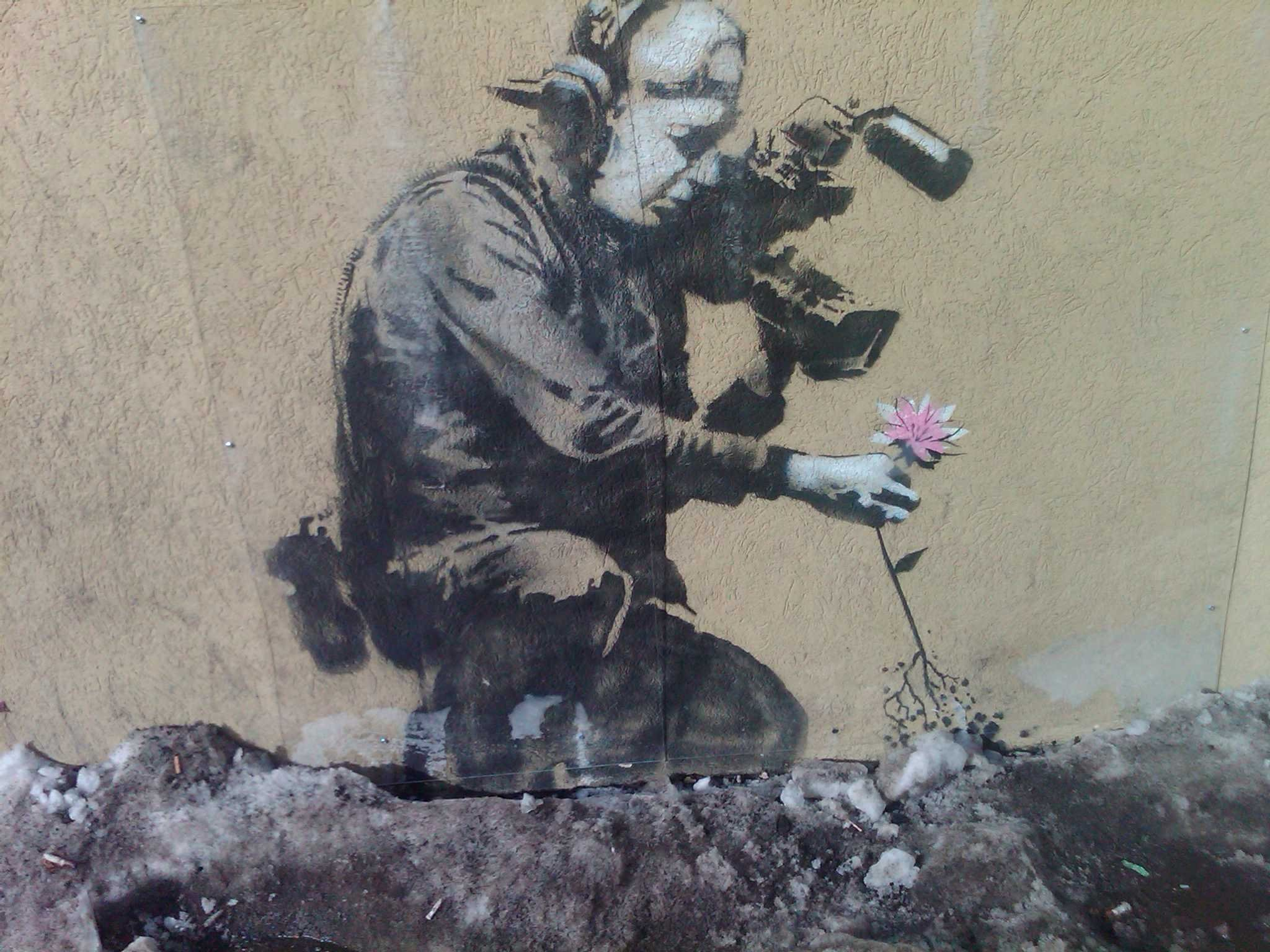 … graffiti Banksy wallpaper …
