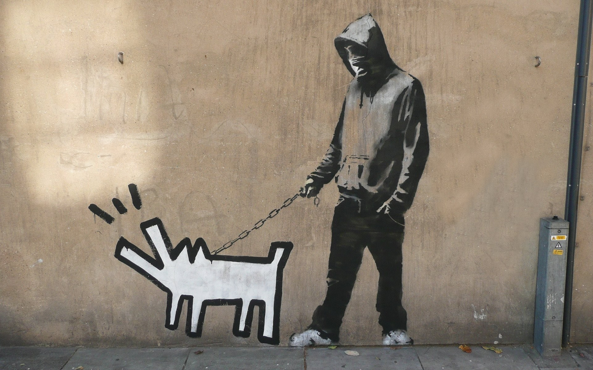 graffiti banksy haring dog