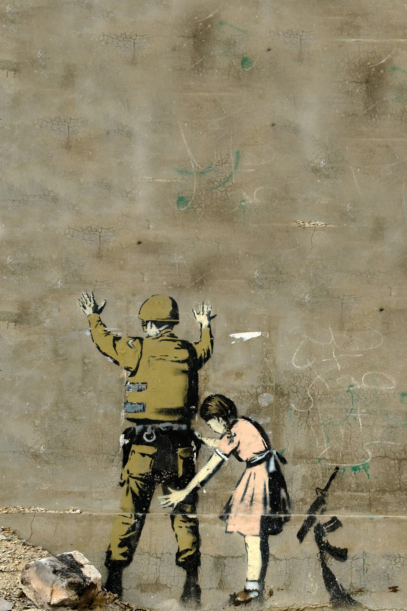 Banksy Strip Search Swap Android Wallpaper. Download Your Screen Size (1024  x 1024) – Recommended Download Original