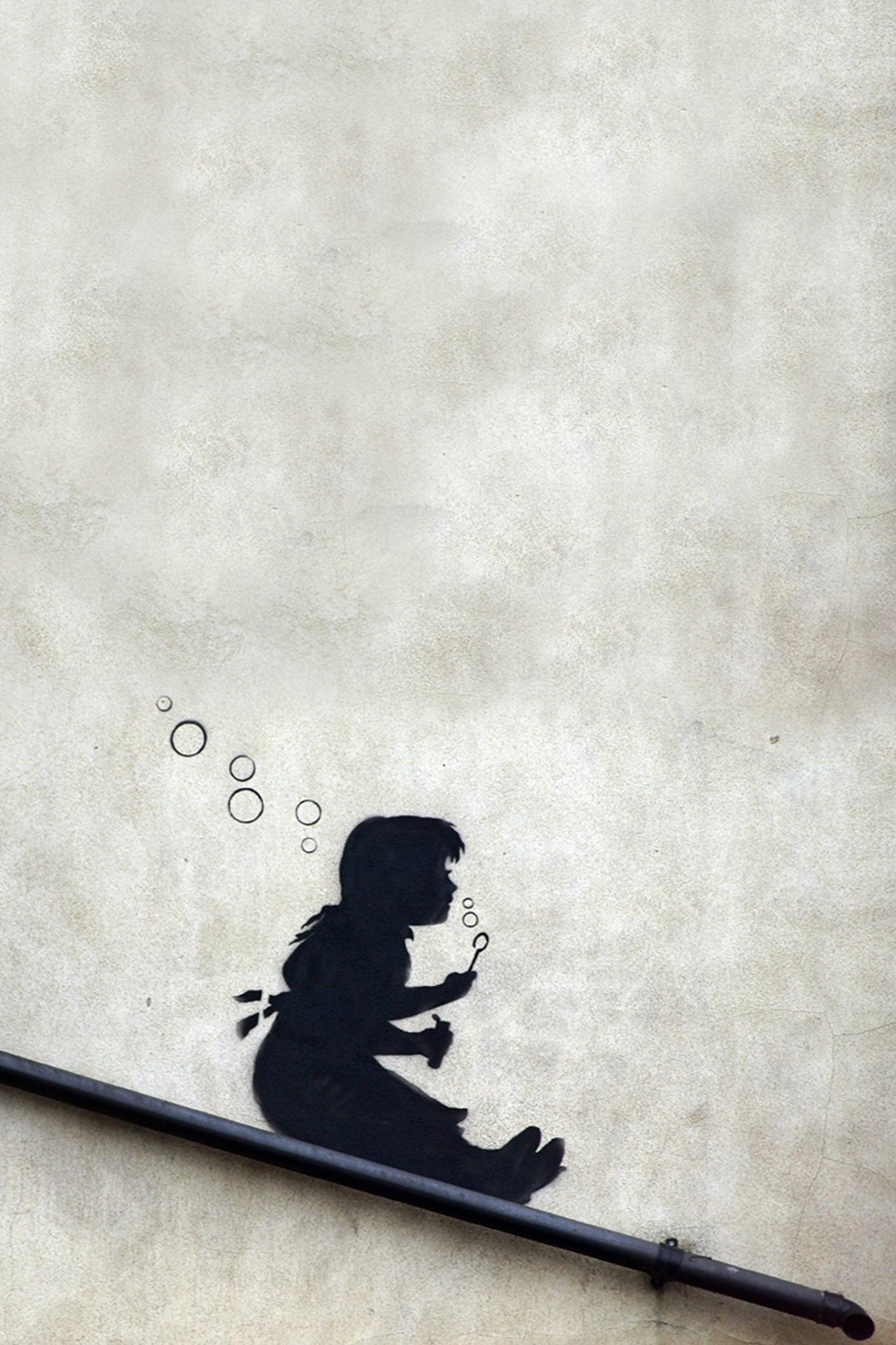 Banksy Girl Slide Bubbles Android Wallpaper. Download Your Screen Size  (1024 x 1024) – Recommended Download Original