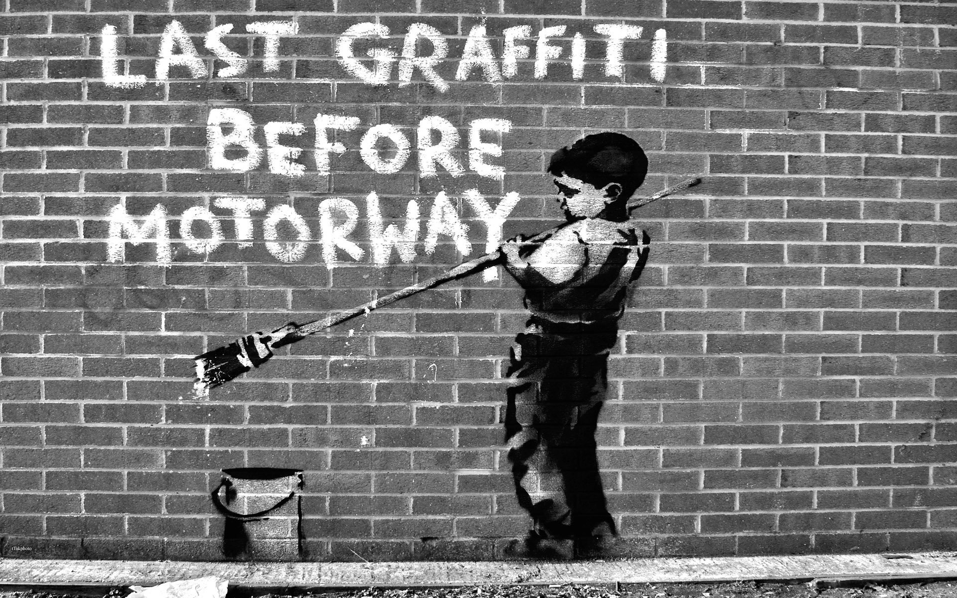 Banksy Last Graffiti Before Motorway .