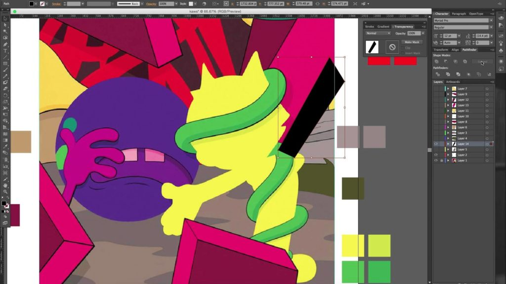 """Kaws """"Presenting The Past""""- Re-creation for HVPE MAG"""