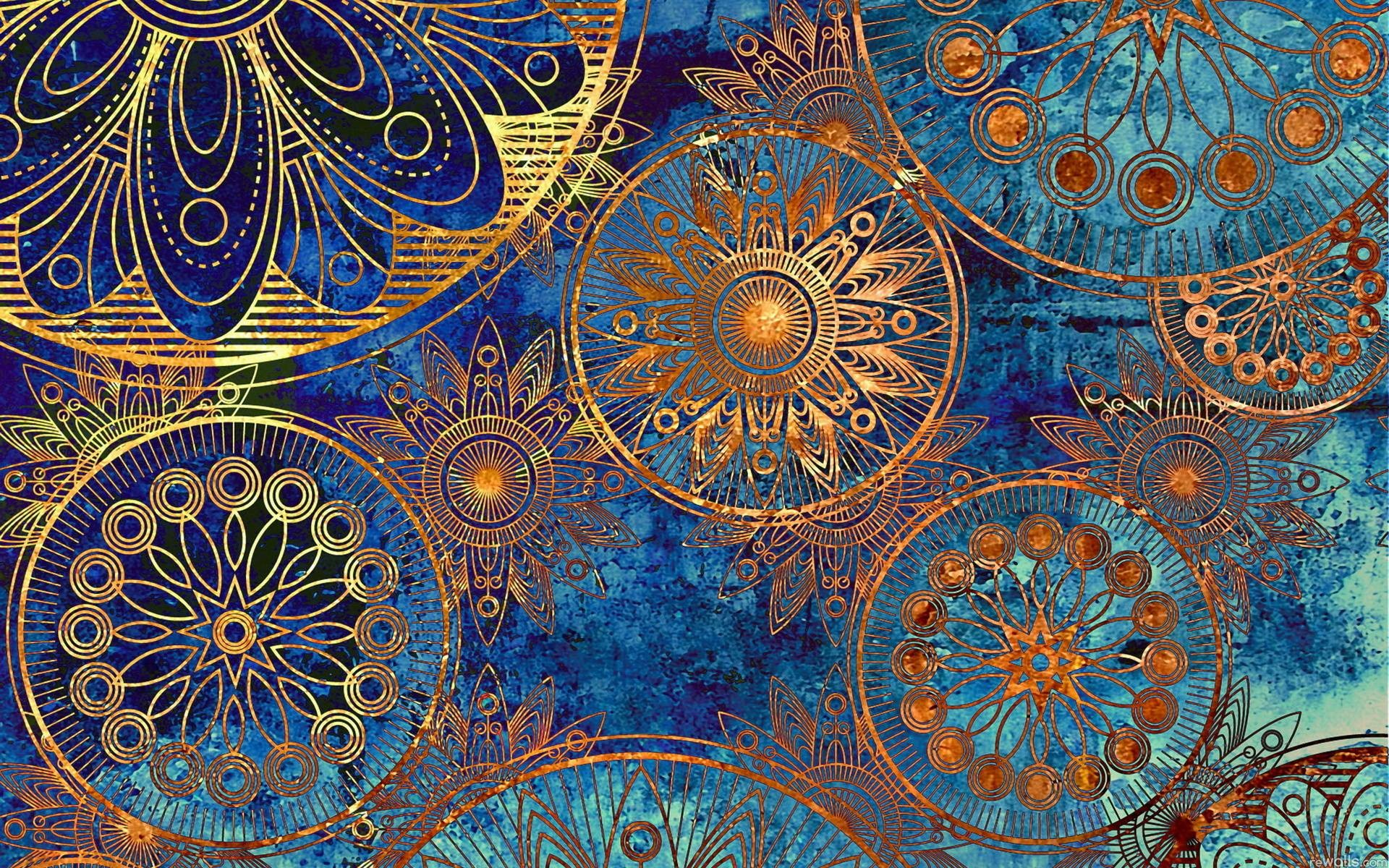 Vintage Drawings on Blue Background | Background and Texture