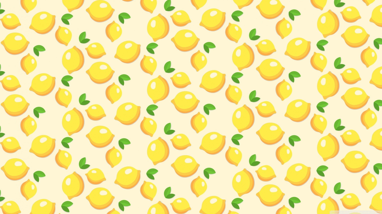 Lemons Pattern HD Wide Wallpaper for Widescreen
