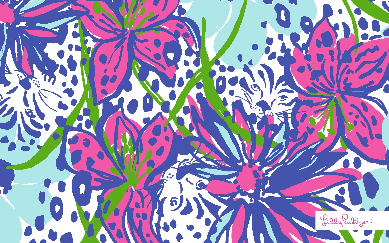 <b>Lilly Pulitzer</b> Pink <b>Desktop Wallpaper<