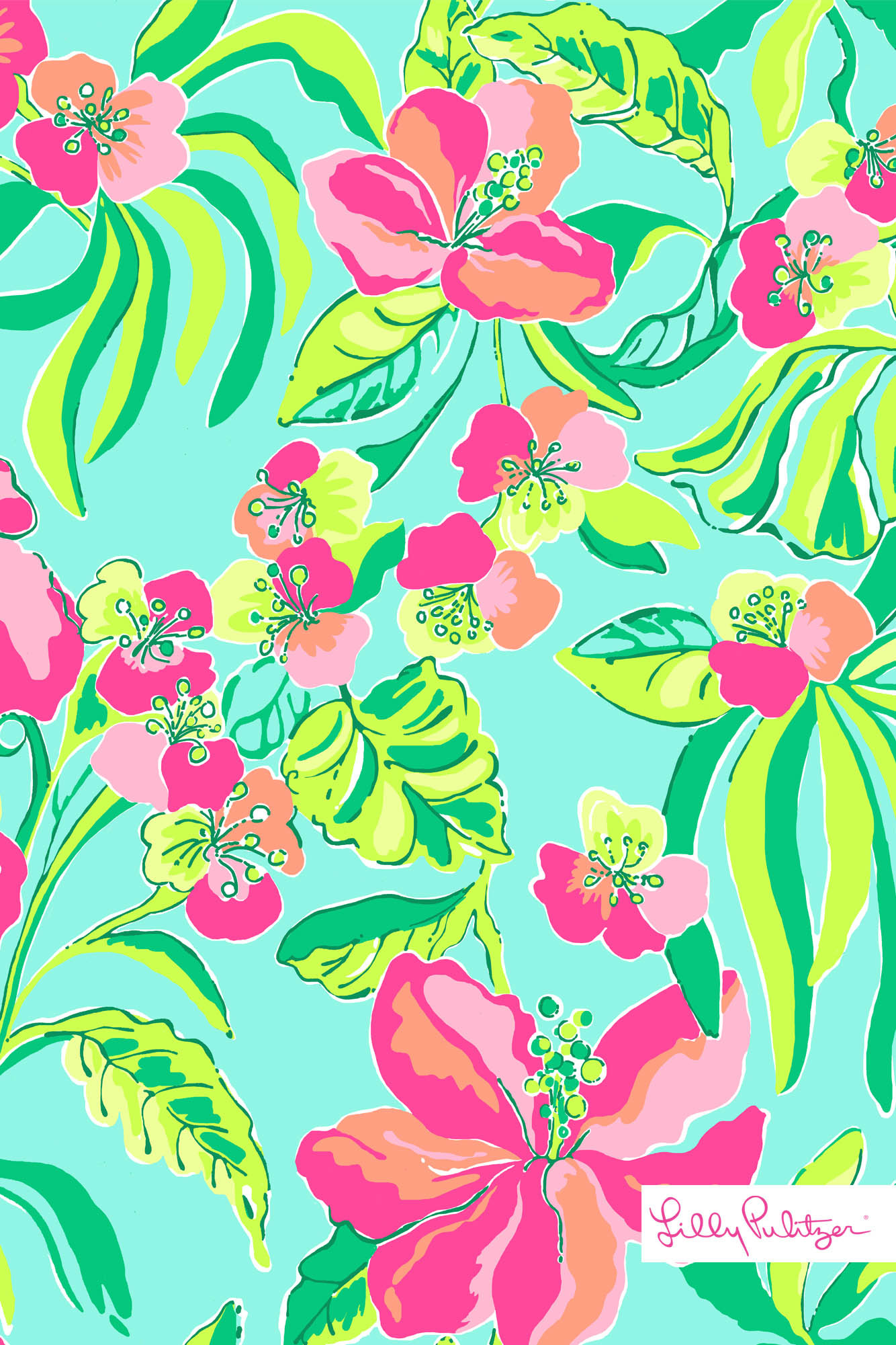 Love this monogrammed Lily Pulitzer iPhone background!