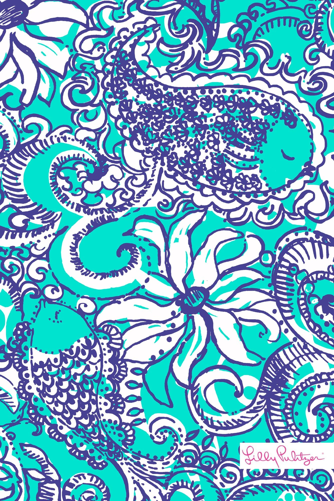 Lilly Pulitzer Montauk iPhone wallpaper