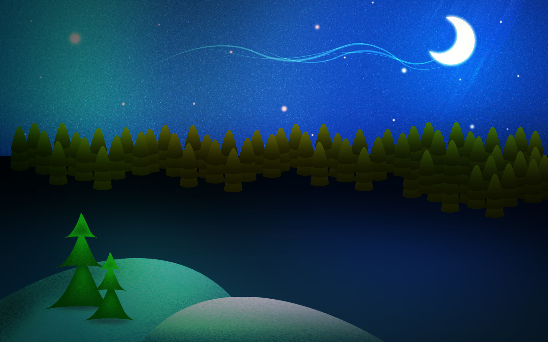 Tutorials: Night Before Christmas : Photoshop Tutorial And WallPaper .