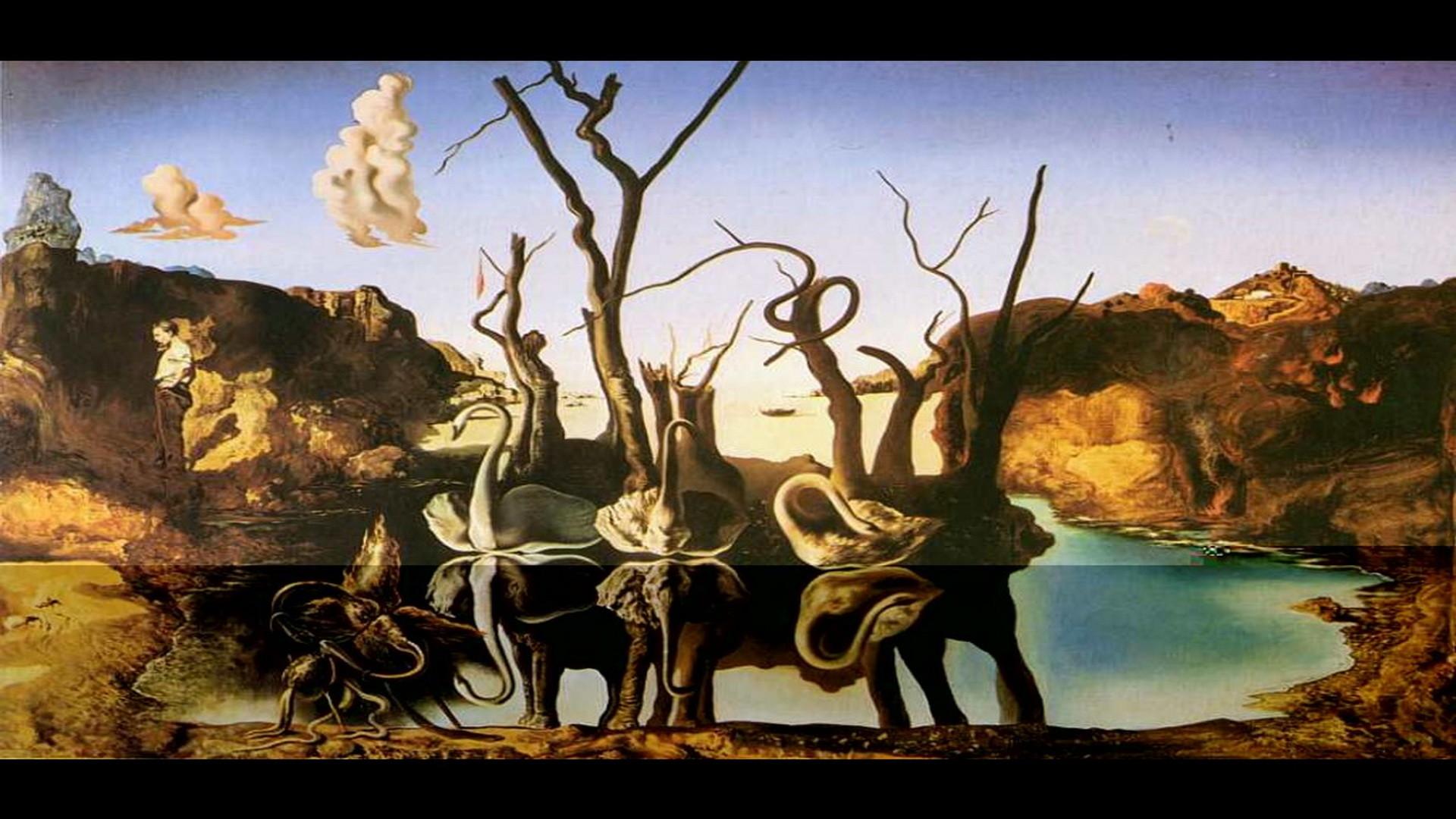 Artwork by Salvador Dali | Salvador Dalí Wallpaper – Swans Reflecting  Elephants
