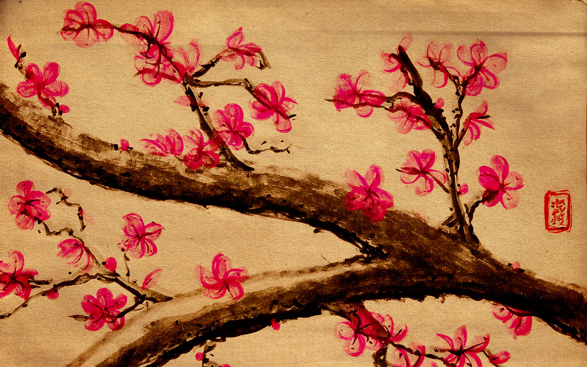 Cherry Blossom Paintin… pic source