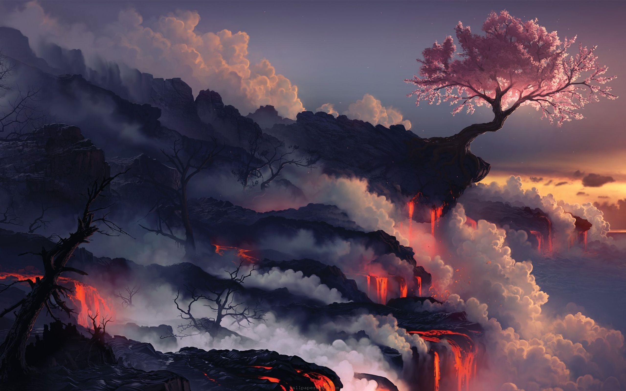 Lava Cool Japanese Wallpaper Art