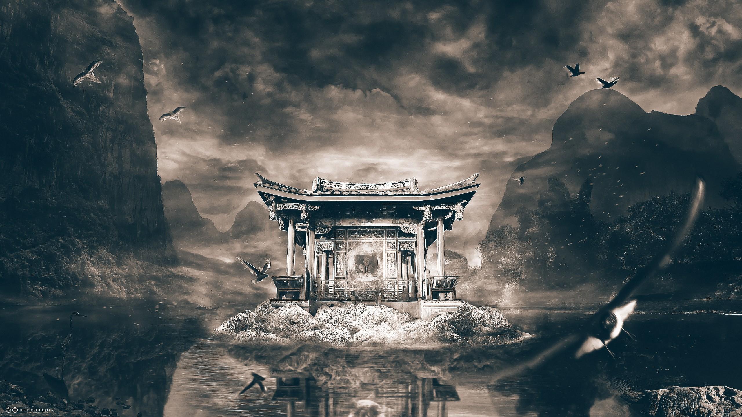 Silk Wallpaper. 2560×1600. Shrine temple art