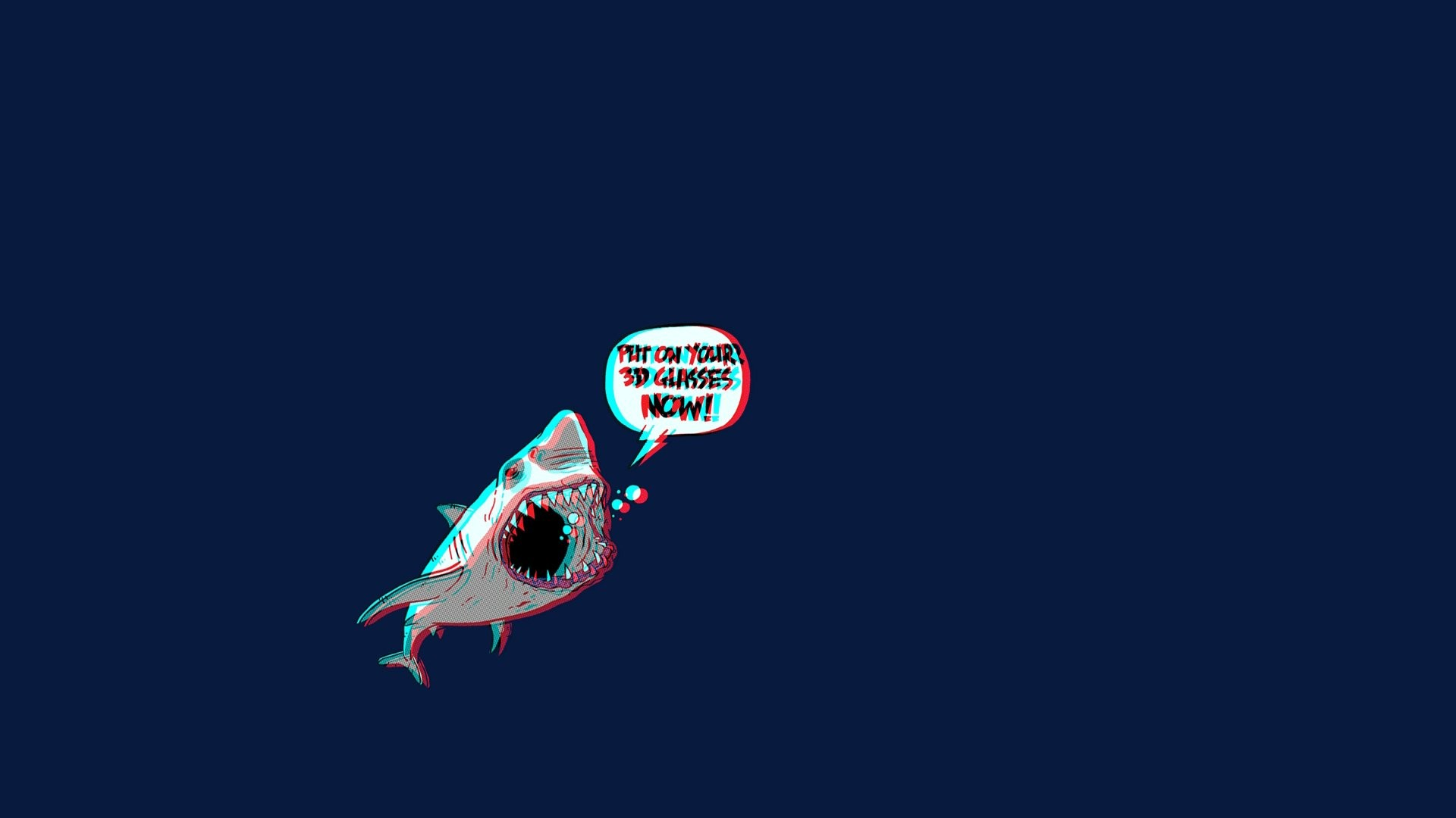 Artistic – Psychedelic Shark 3D Trippy Wallpaper