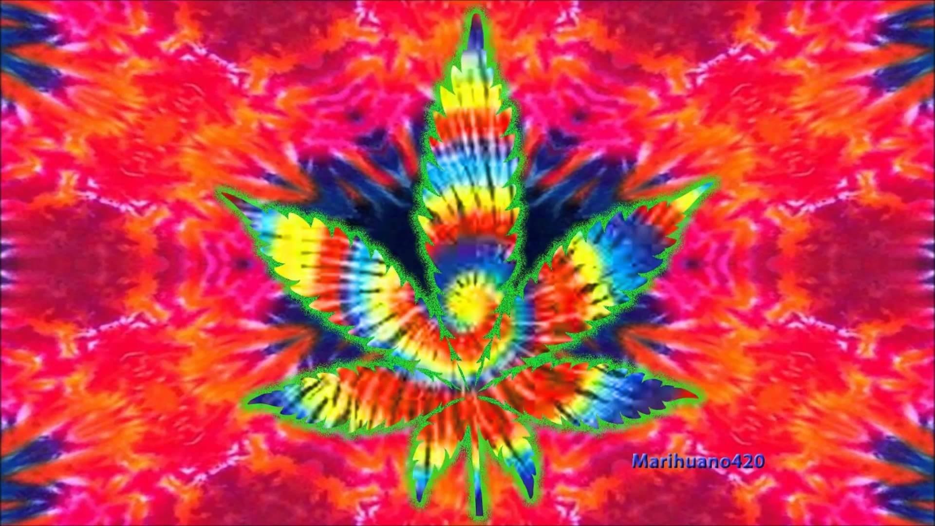 Artistic – Marijuana Artistic Psychedelic Colors Wallpaper