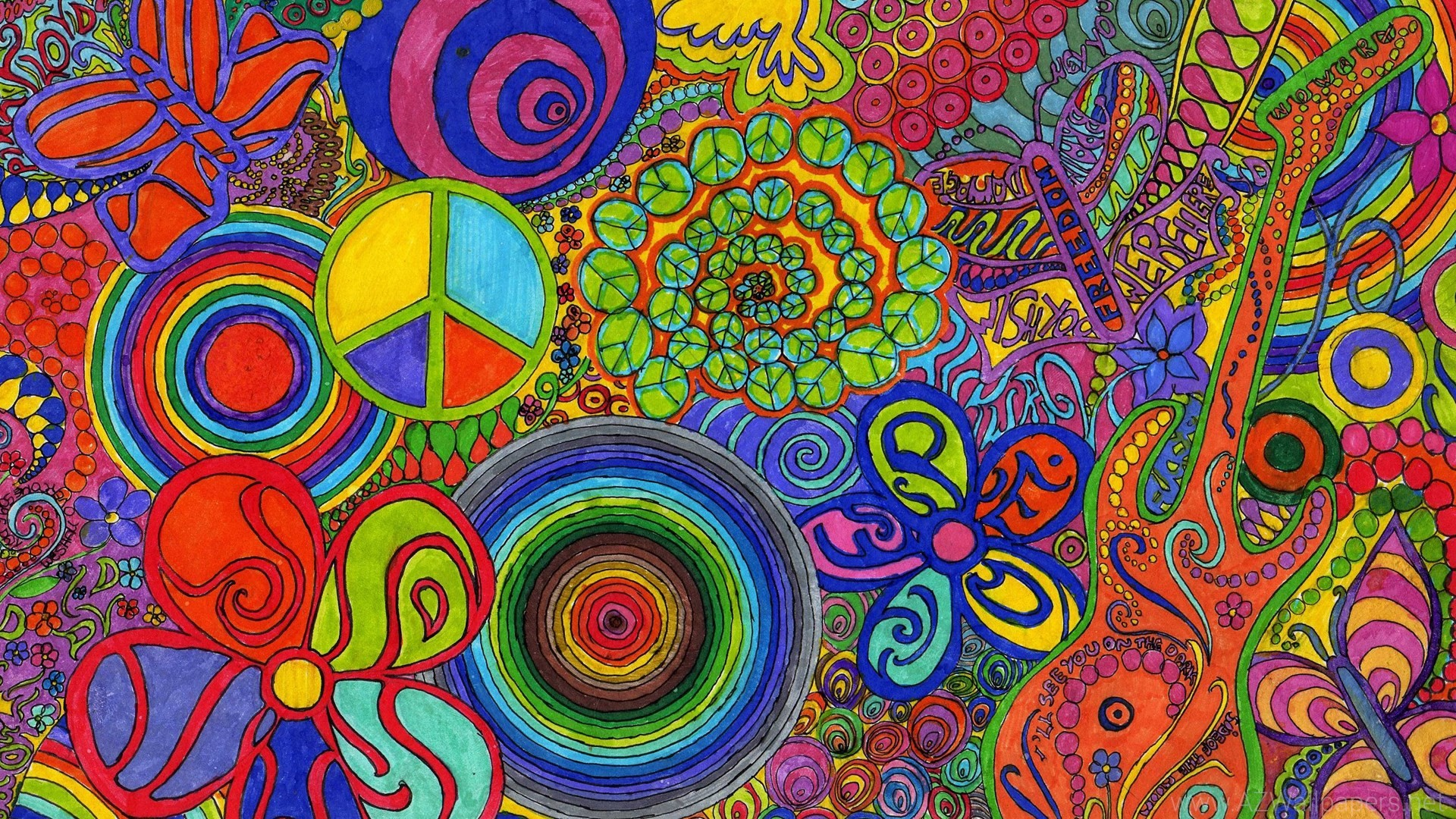 Agreeable Hippie Wallpaper Trippy Psychedelic The Sky HD Wallpaper .