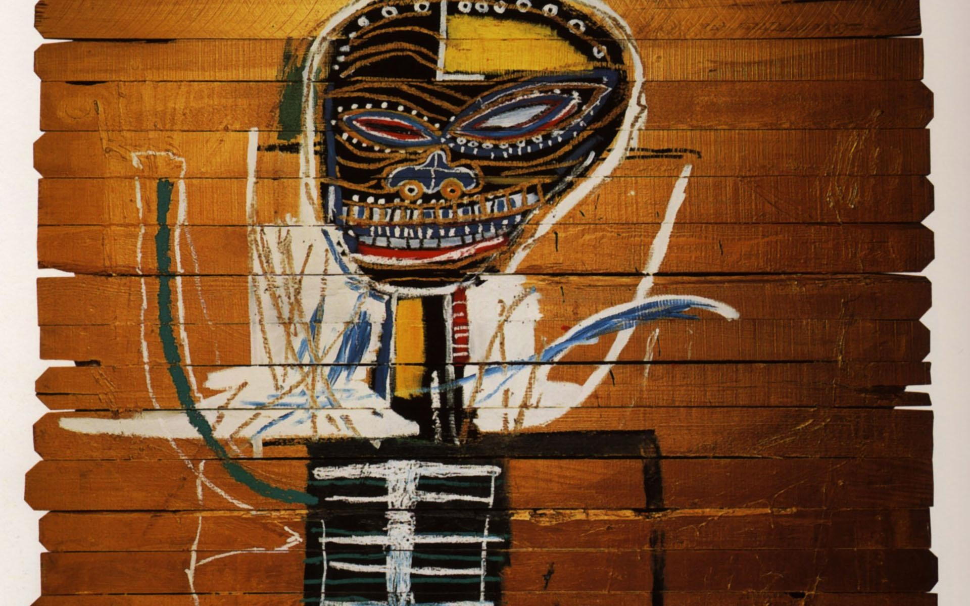 Jean-Michel Basquiat Wallpaper, Gold Griot