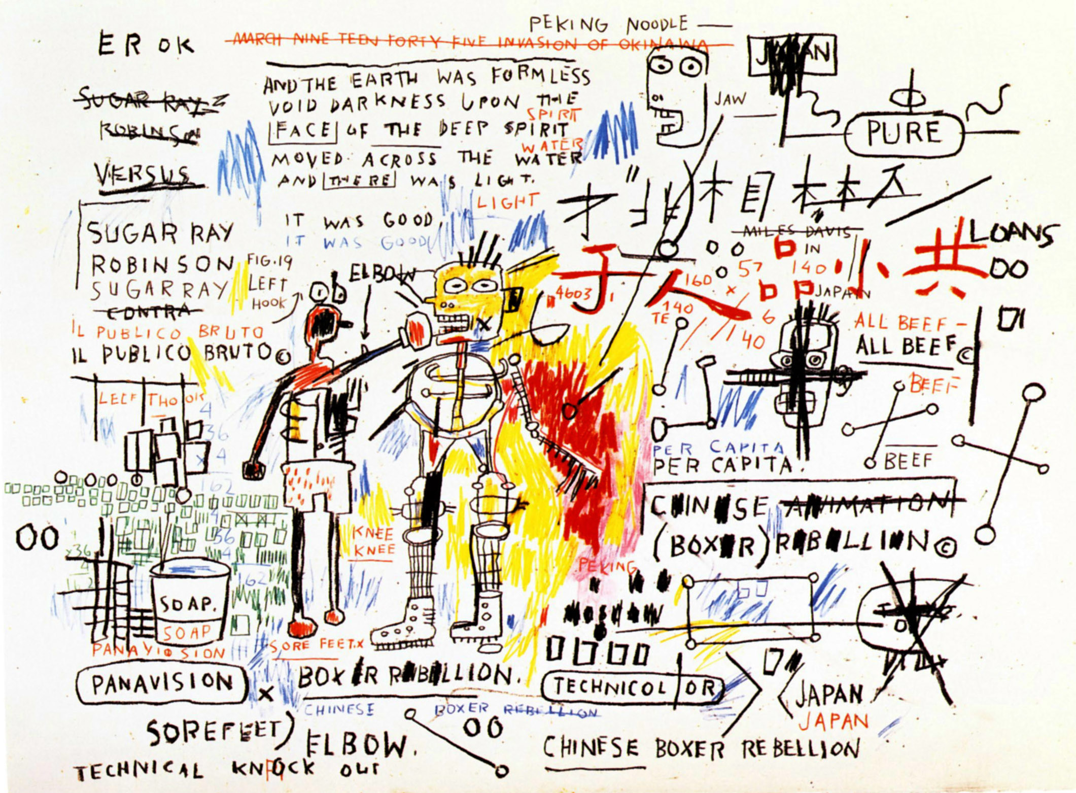 Boxer Rebellion, 1983 – Jean-Michel Basquiat