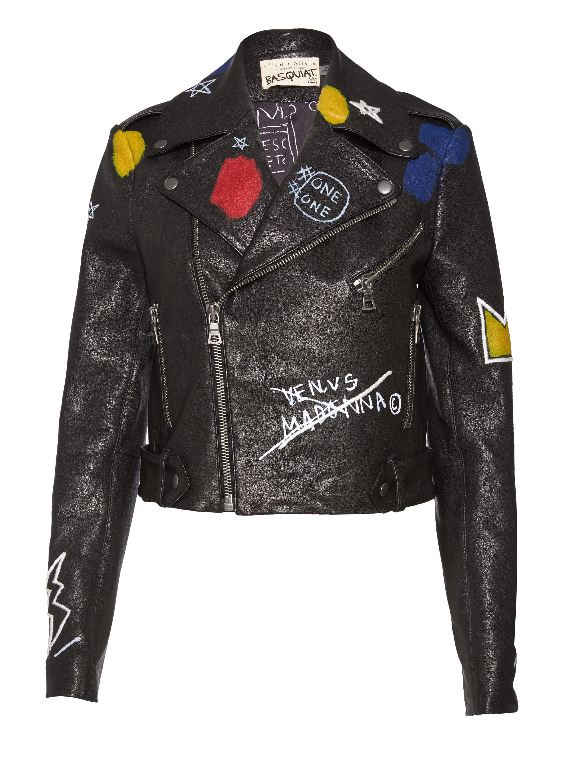Show your arty side in an Alice + Olivia x Basquiat jacket