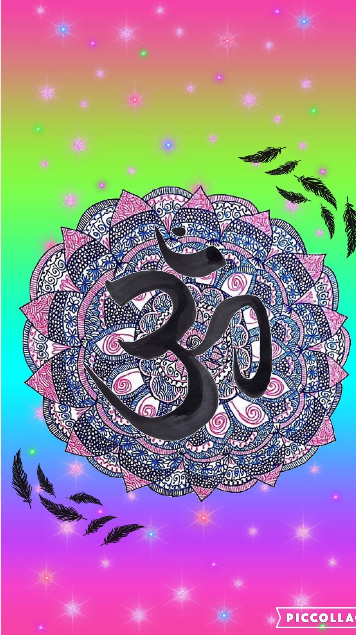 Mandala/hamsa colorful by rose