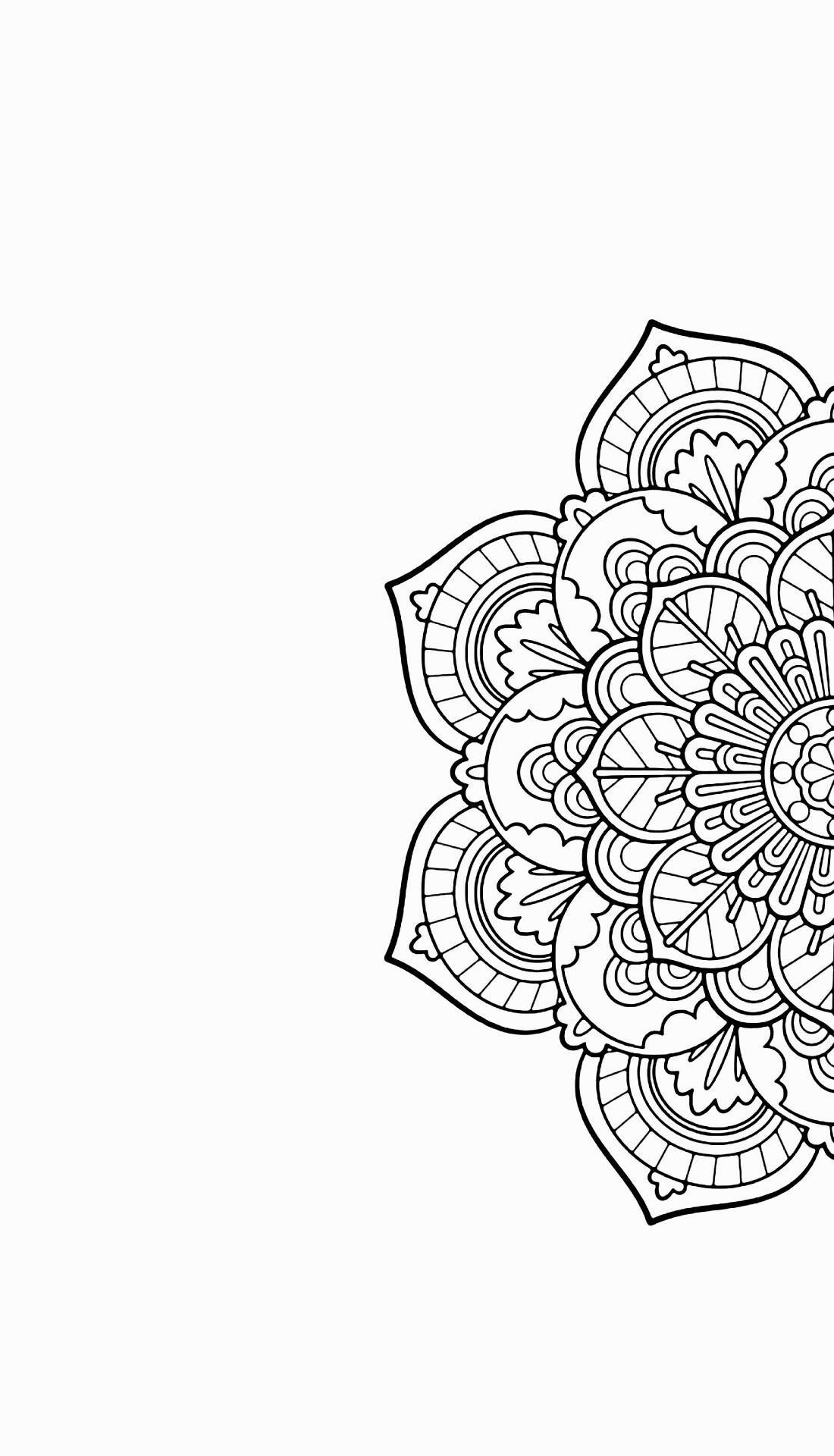 Mandala-Phone-Black-and-White-wallpaper-wp5209147
