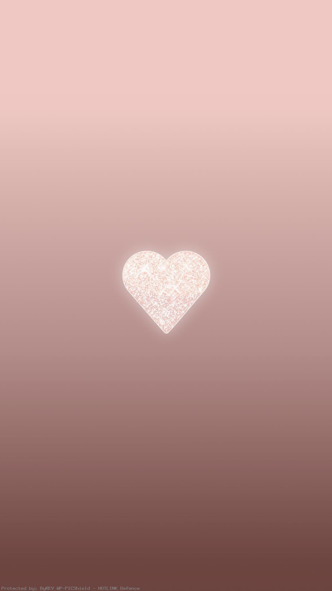Rose-Gold-Heart-phone-background-lock-screen-wallpaper-