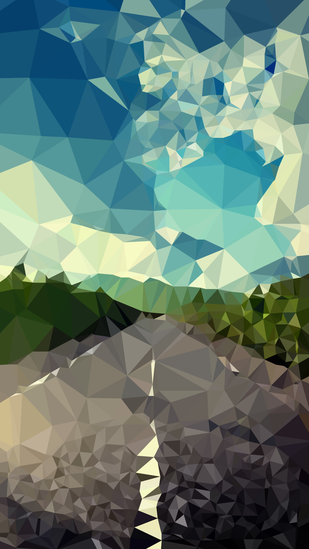 Tap image for more iPhone 6 Wallpapers! Landscape road polygon – @mobile9