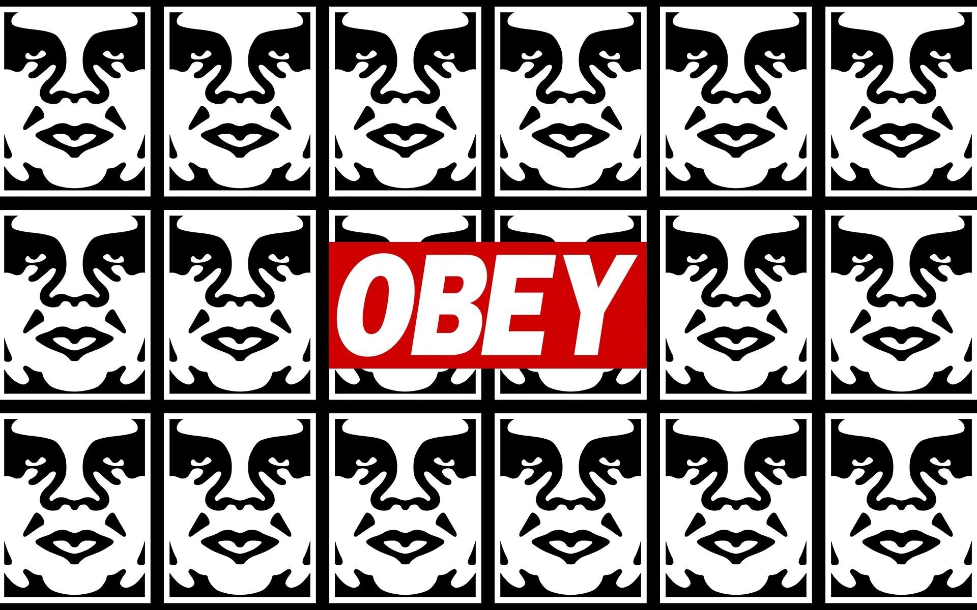 Obey graffiti stencils anarchy humor texts dark sadic wallpaper .