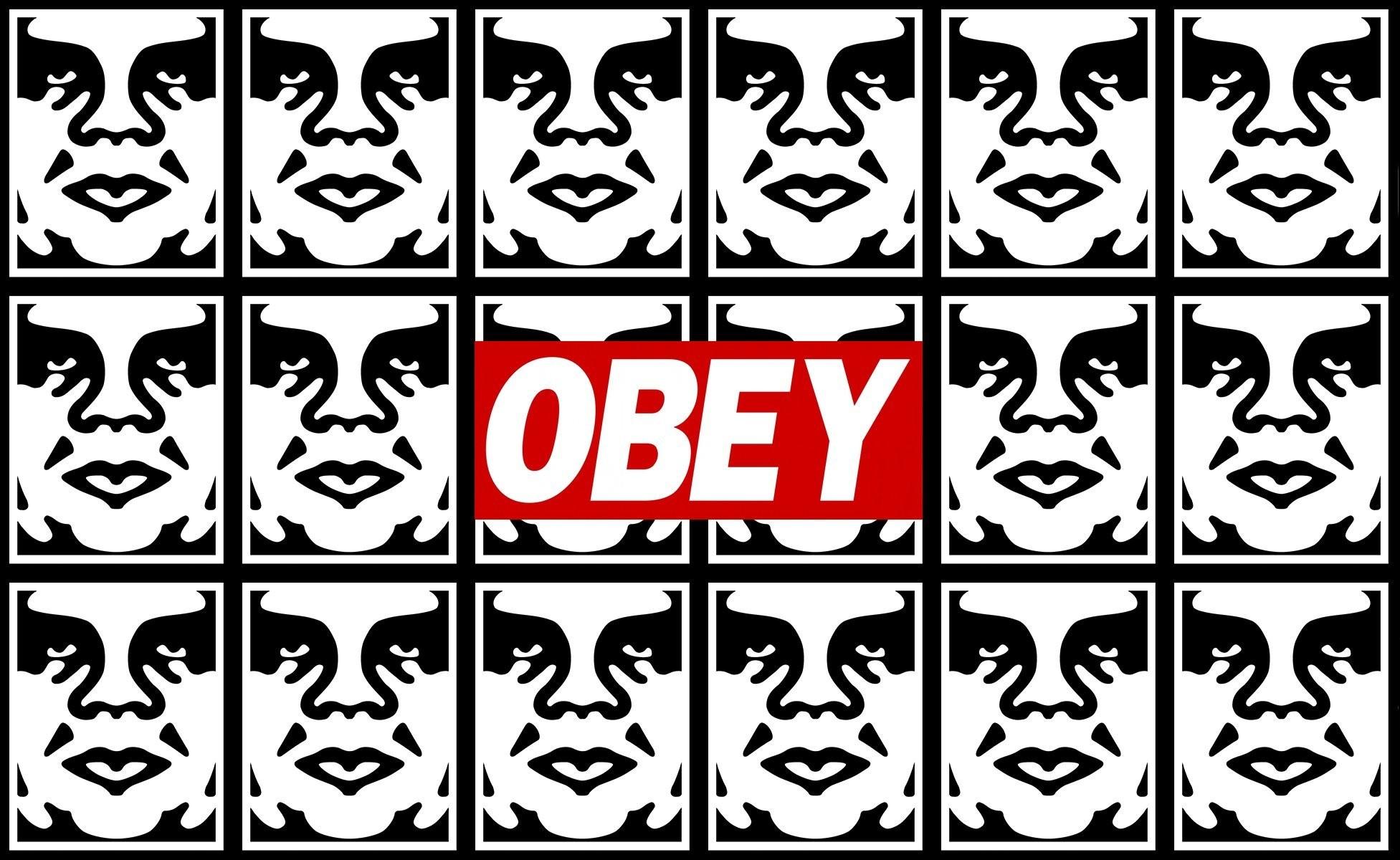 obey obey graffiti stencils