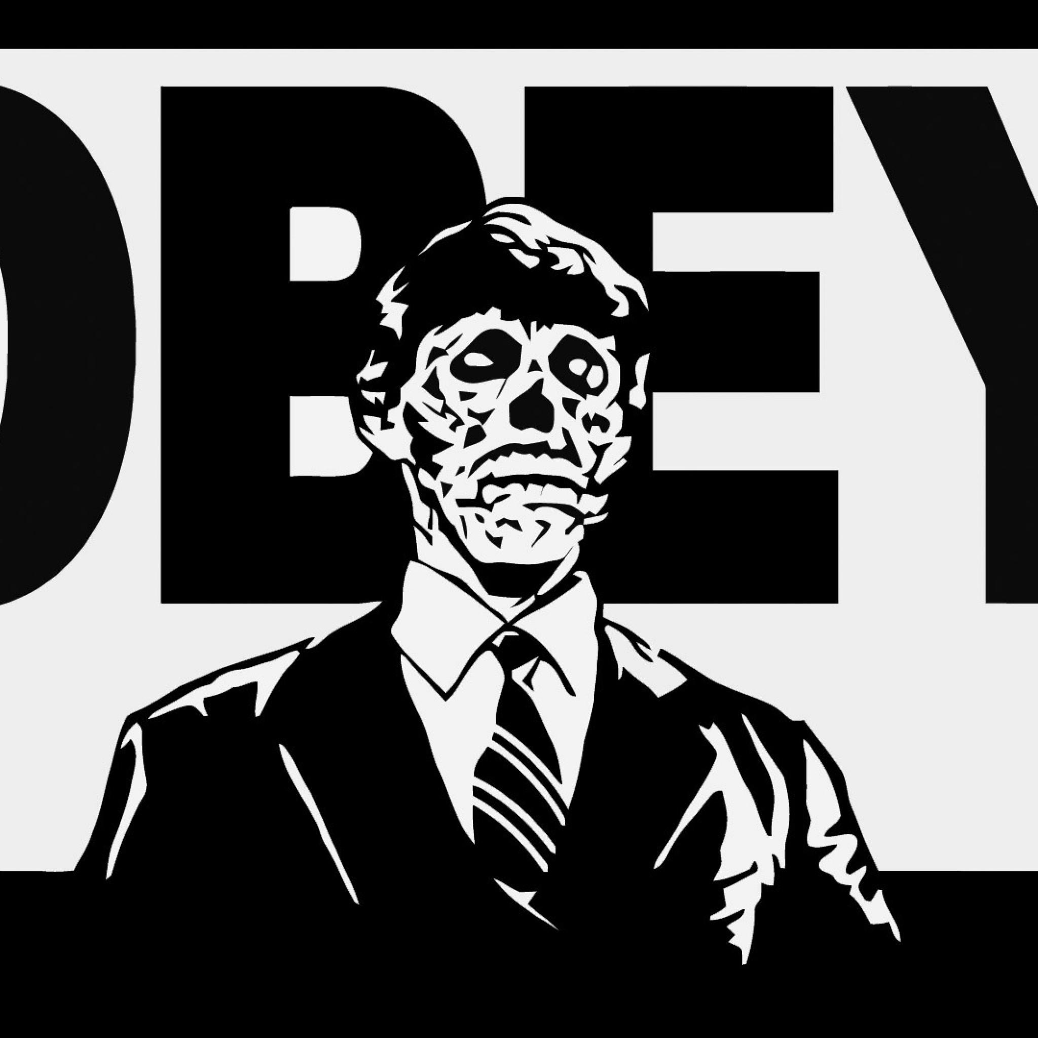 Wallpaper obey, skeleton, logo, brand