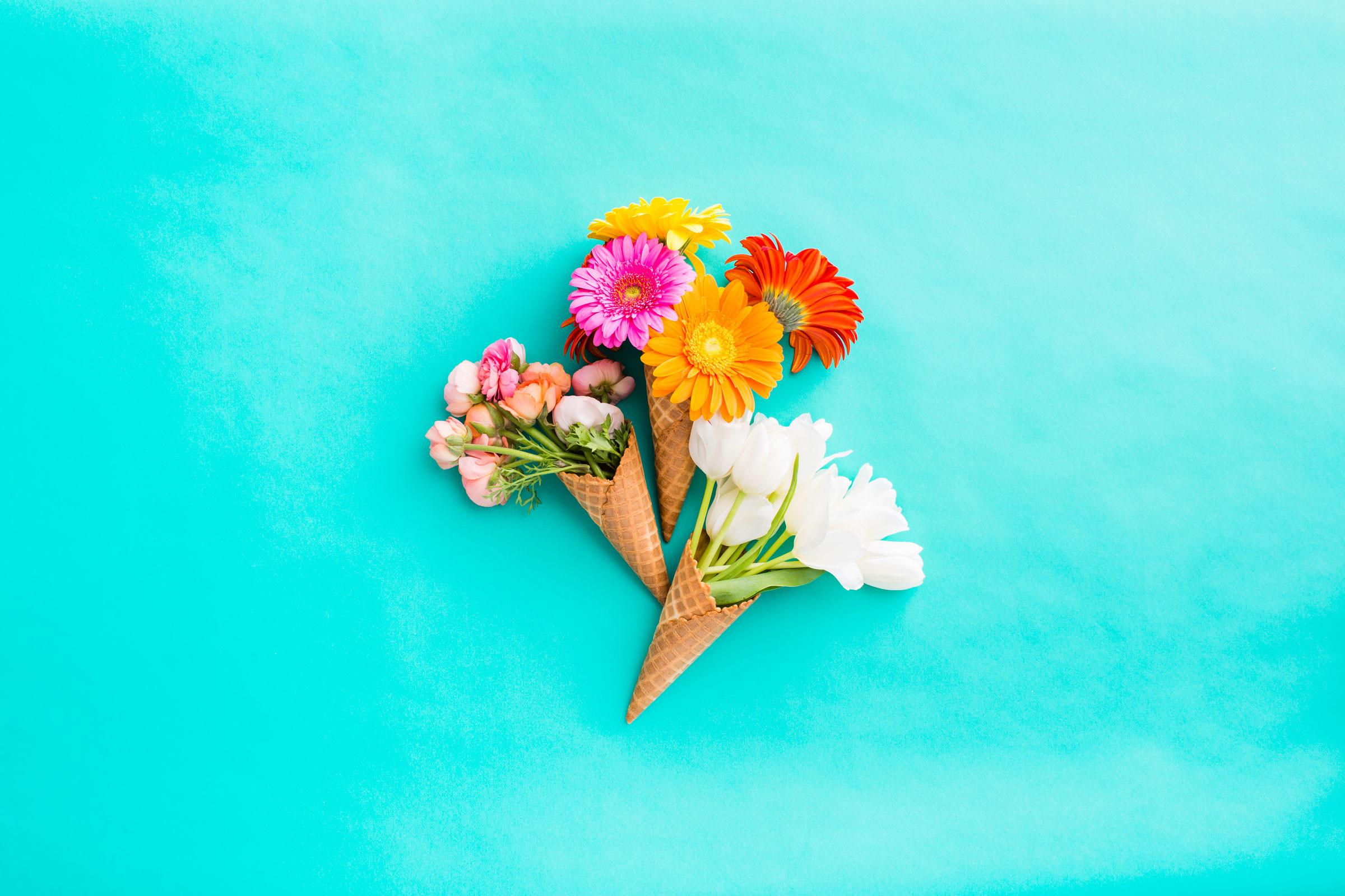 Download Floral Bunch of Ice Cream Cones