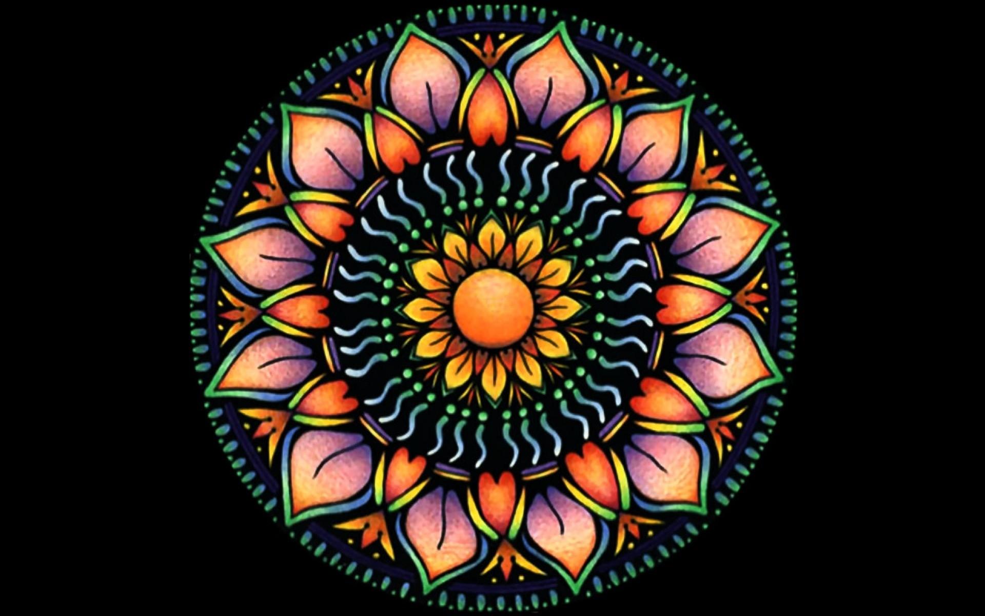 Orange Mandala Flower wallpapers | Orange Mandala Flower .