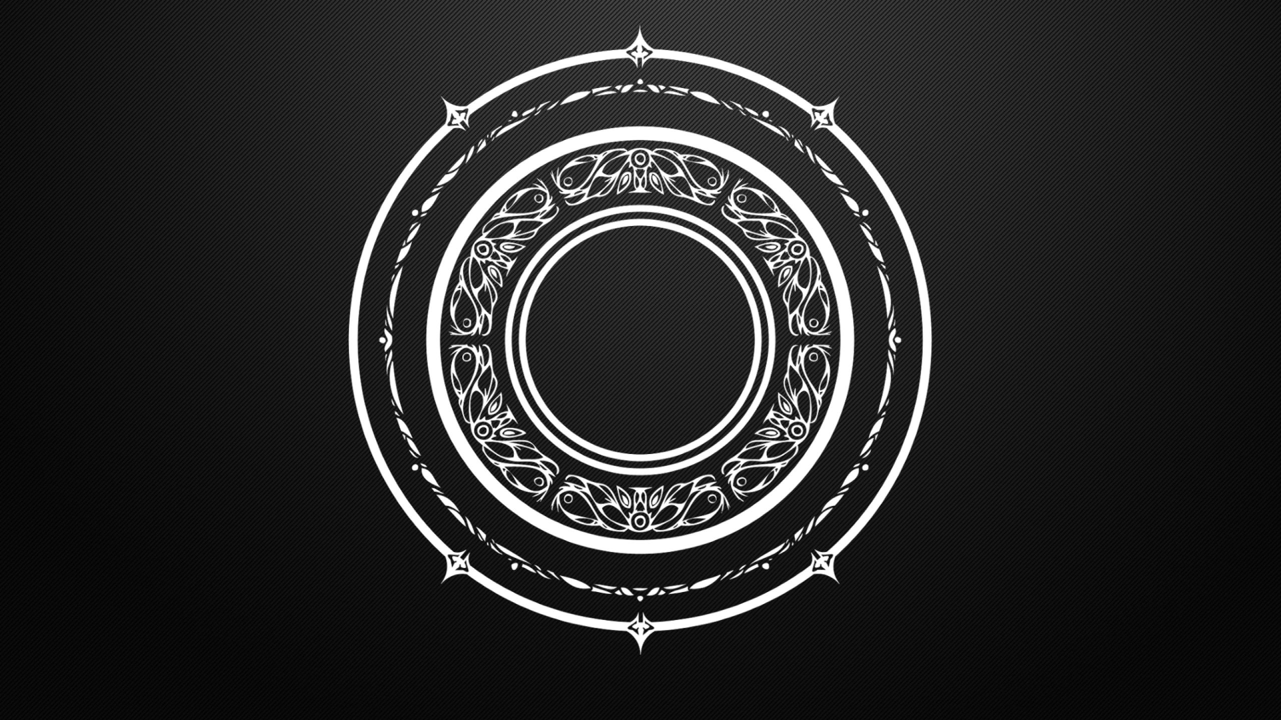 black and white circles magic arcane mandala tera online magic circles  1920×1080 wallpaper Wallpaper HD