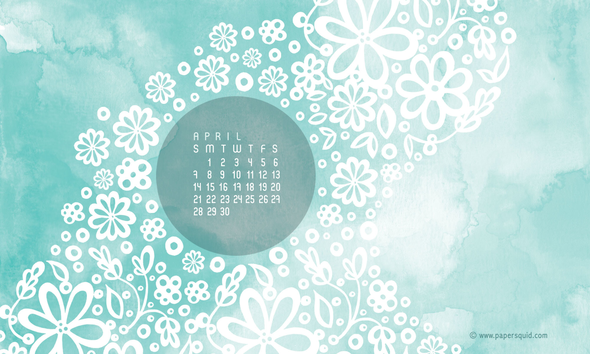 Here is April's free desktop calendar, which you can download here.