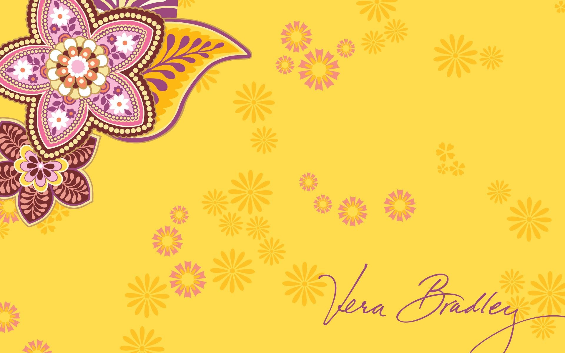 Vera Bradley Bali Gold Desktop Wallpaper