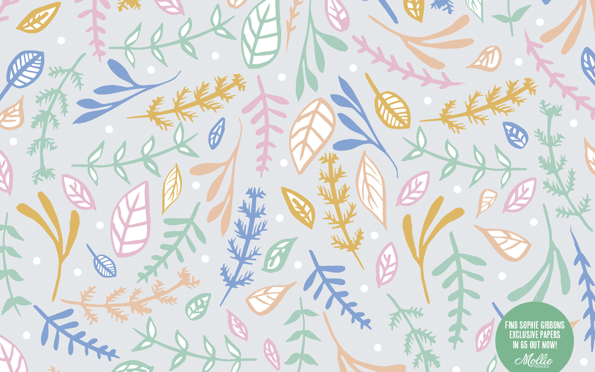 Free mobile wallpapers | Sophie Gibbons for Mollie Makes | Free desktop  wallpaper