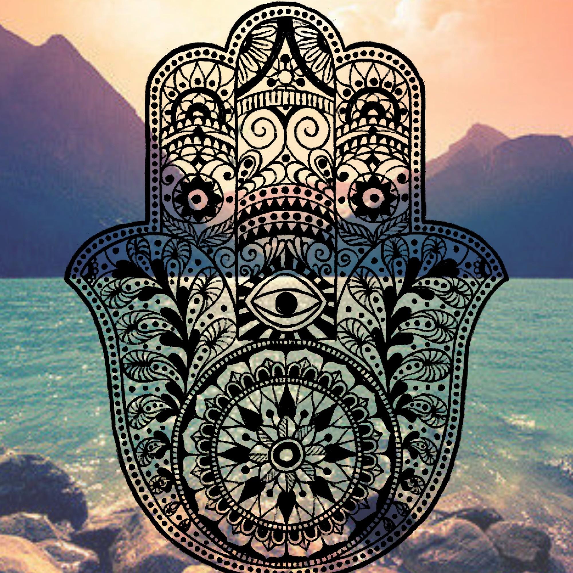 Hamsa iPhone Background mountain ocean tumblr evil eye hams hand henna