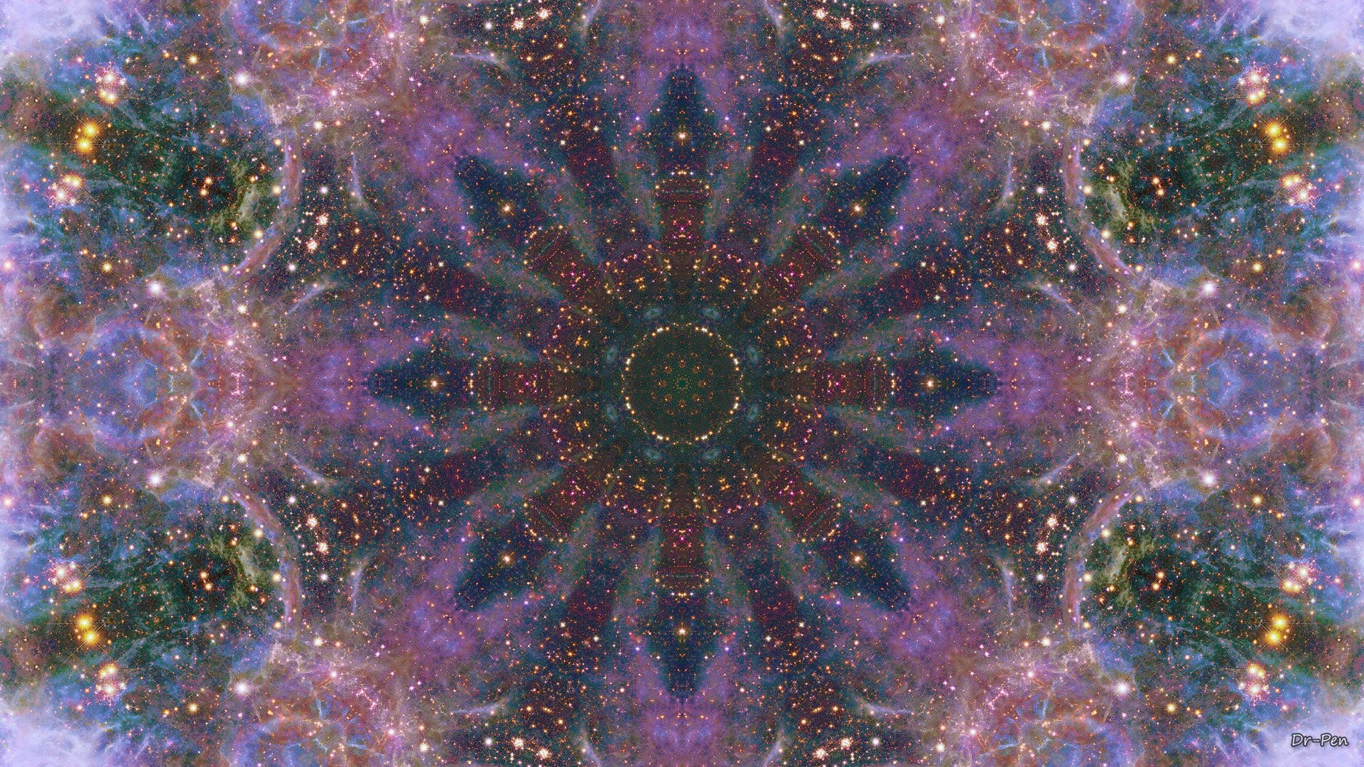 Abstract – Pattern Artistic Manipulation Digital Abstract Mandala Space  Galaxy Wallpaper