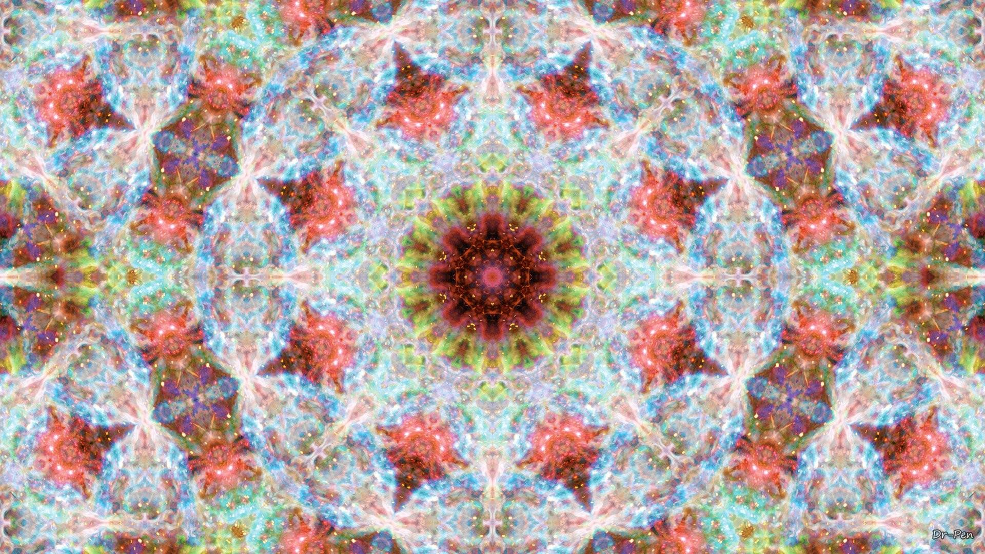 Abstrakt РM̦nster Artistisk Manipulation Digital Abstrakt Mandala Space  Galax Bakgrund