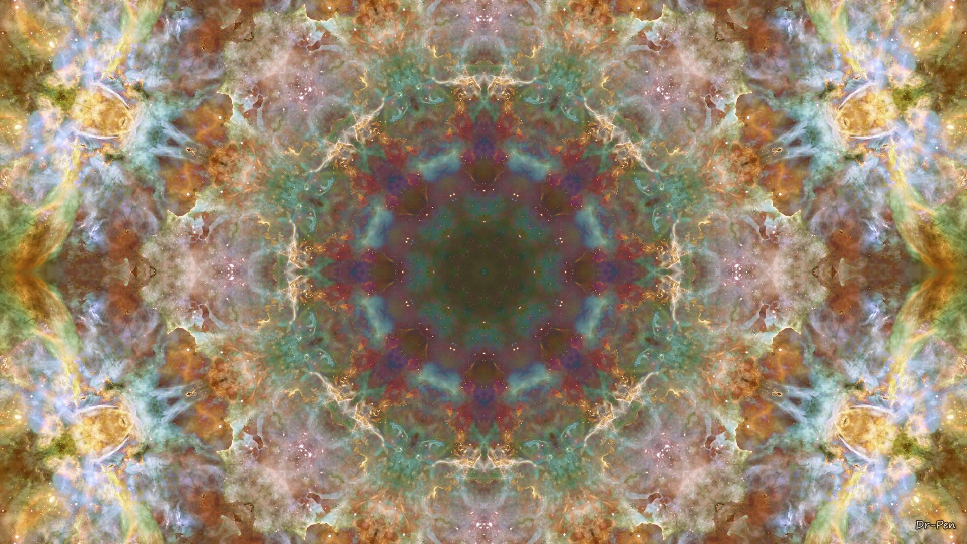 Abstract – Pattern Yellow Brown Artistic Manipulation Digital Abstract  Mandala Space Galaxy Wallpaper