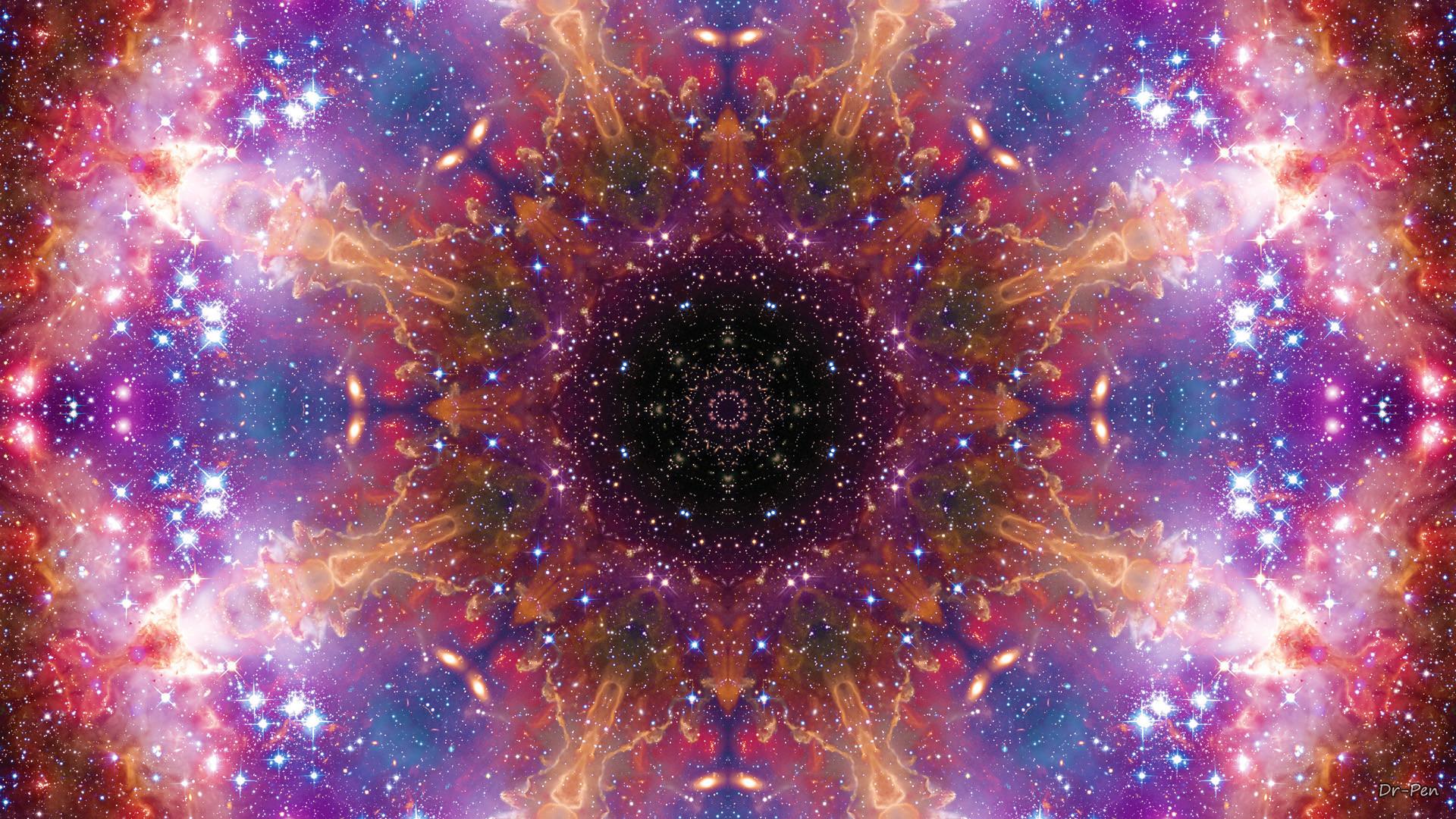 Abstract – Pattern Purple Artistic Manipulation Digital Abstract Mandala  Space Galaxy Wallpaper