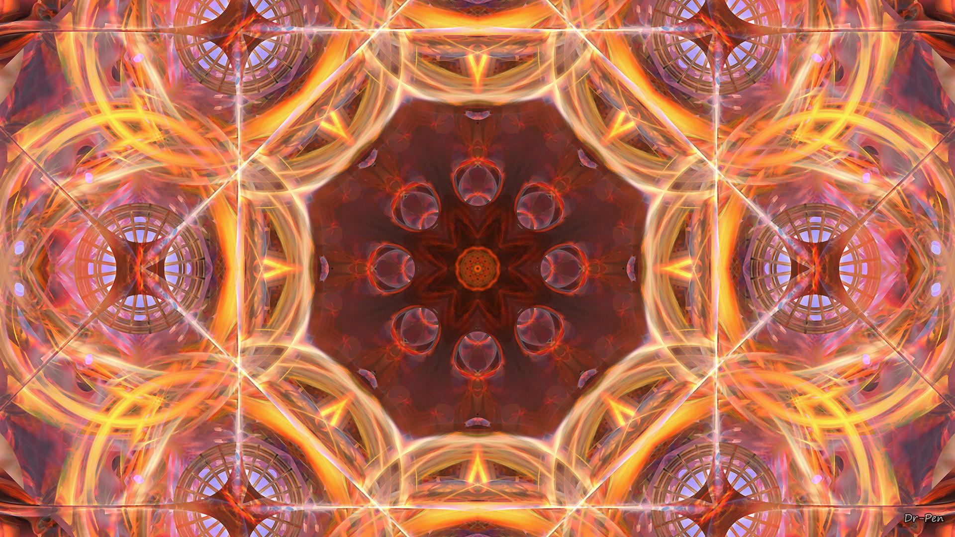 Abstract – Pattern Abstract Artistic Digital Mandala Manipulation Wallpaper