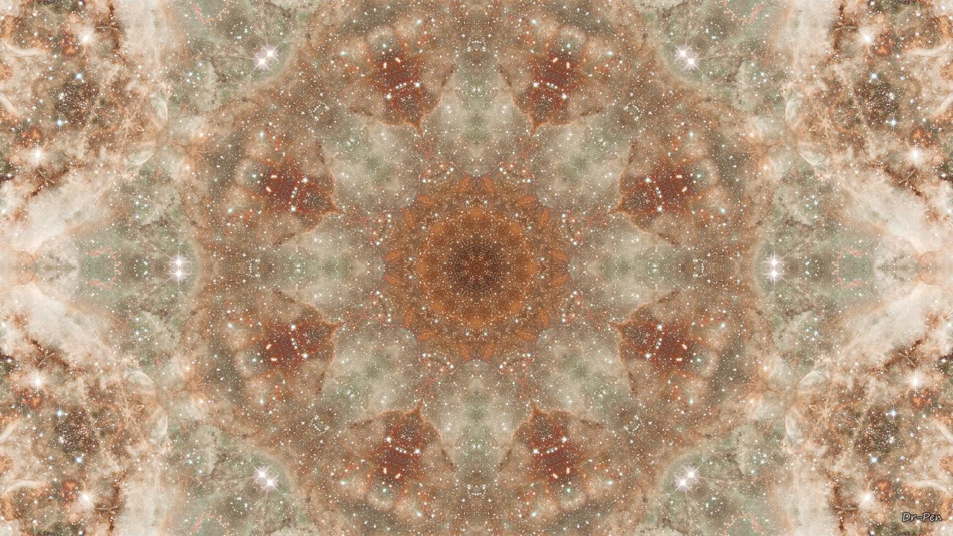 Abstract – Pattern Artistic Manipulation Digital Abstract Mandala Space  Galaxy Brown Wallpaper