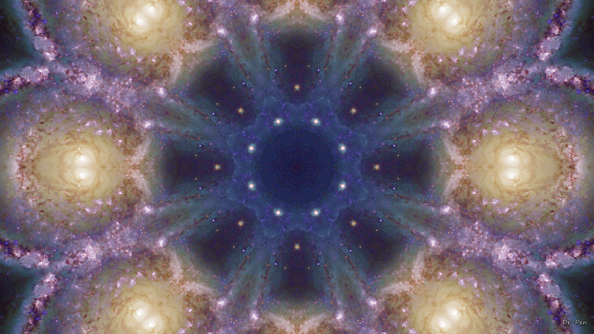 Abstract – Pattern Abstract Artistic Digital Mandala Manipulation Space  Wallpaper
