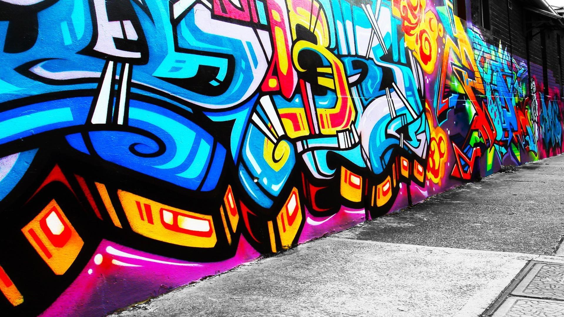 abstract graffiti cityscapes wallpaper